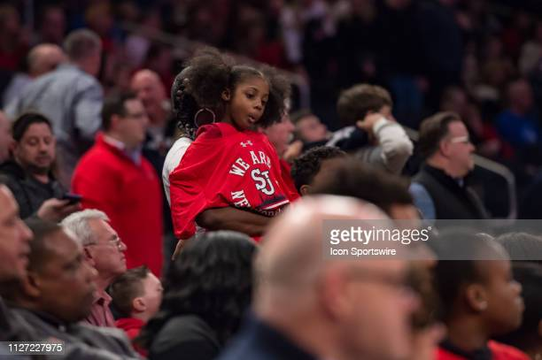 St John's Red Storm fans during the college basketball game between the Seton Hall Pirates and the St John's Red Storm on February 2019 at Madison...
