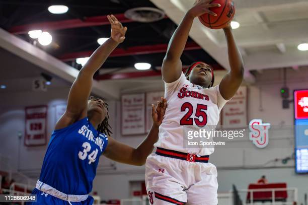 St John's Red Storm forward Curteeona Brelove during the women's college basketball game between the Seton Hall Pirates and St John's Red Storm on...