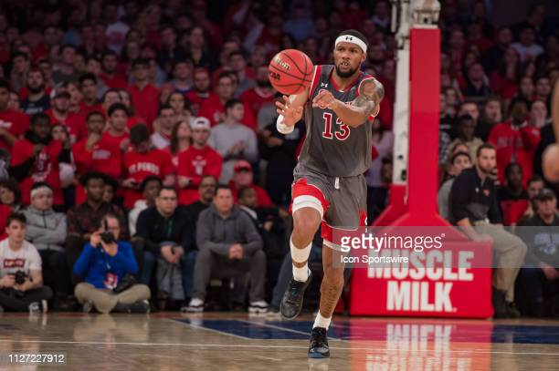 St John's Red Storm forward Marvin Clark II during the college basketball game between the Seton Hall Pirates and the St John's Red Storm on February...