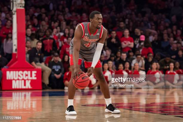 St John's Red Storm guard Greg Williams Jr during the college basketball game between the Seton Hall Pirates and the St John's Red Storm on February...