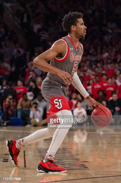 St John's Red Storm guard Justin Simon during the college basketball game between the Seton Hall Pirates and the St John's Red Storm on February 2019...