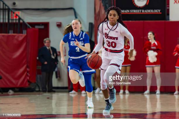 St John's Red Storm guard Kadaja Bailey during the women's college basketball game between the Seton Hall Pirates and St John's Red Storm on March 3...