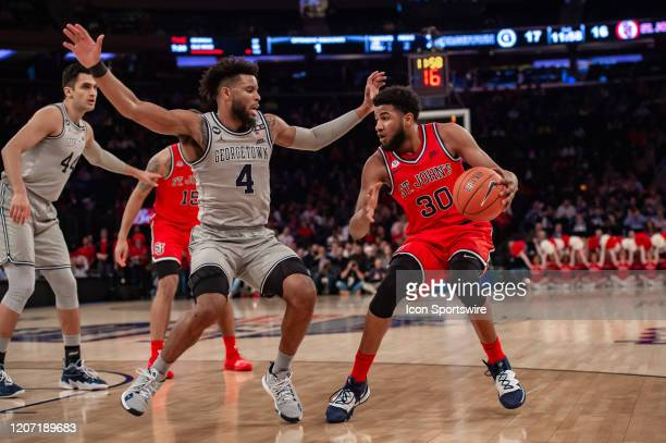 St. John's Red Storm guard LJ Figueroa in action during the Big East tournament first round game between the St. Johns Red Storm and Georgetown Hoyas...