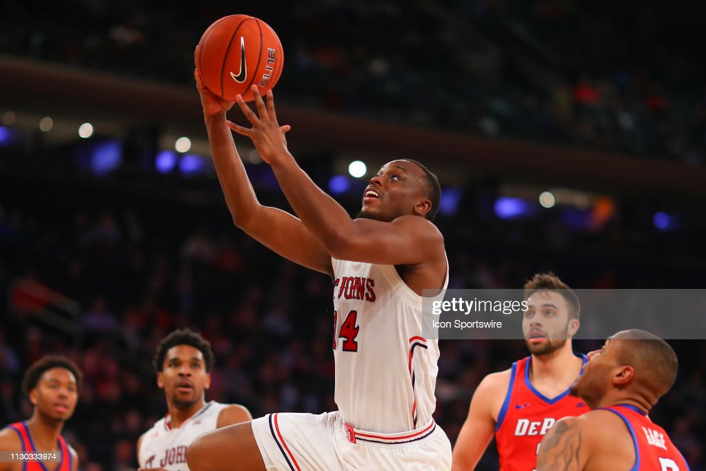 COLLEGE BASKETBALL: MAR 13 Big East Conference Tournament - St. John's Red Storm v DePaul Blue Demons : News Photo
