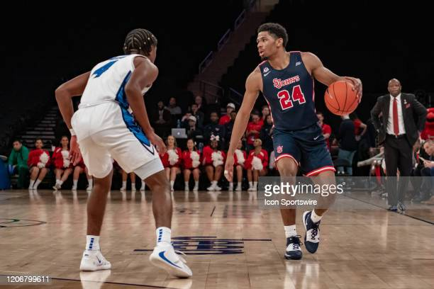 St John's Red Storm guard Nick Rutherford in action during the first half of the Big East tournament quarterfinal round game between the St Johns Red...