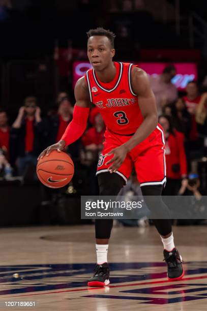 St. John's Red Storm guard Rasheem Dunn during the Big East tournament first round game between the St. Johns Red Storm and Georgetown Hoyas on March...