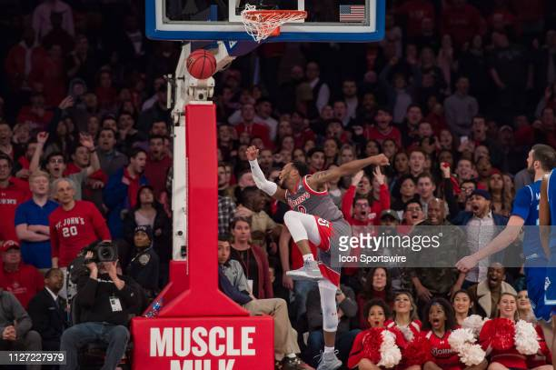 St John's Red Storm guard Shamorie Ponds during the college basketball game between the Seton Hall Pirates and the St John's Red Storm on February...
