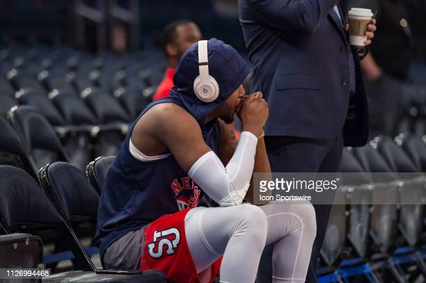 St John's Red Storm guard Shamorie Ponds prepares himself mentally prior to the college basketball game between the Seton Hall Pirates and the St...