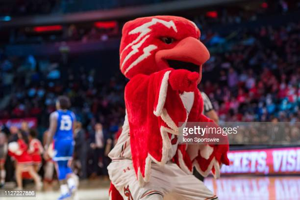 St John's Red Storm mascot during the college basketball game between the Seton Hall Pirates and the St John's Red Storm on February 2019 at Madison...
