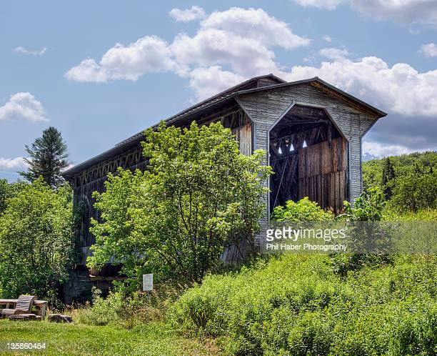 st. johnsbury and lamoille county railroad bridge - phil haber stock pictures, royalty-free photos & images