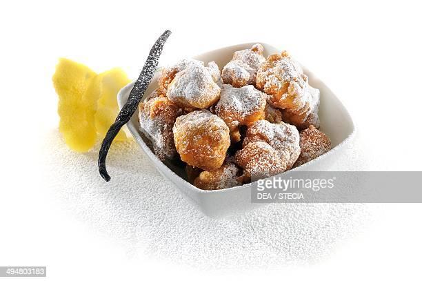 St Joseph beignet deepfried choux pastry filled with sweet custard Lazio Italy