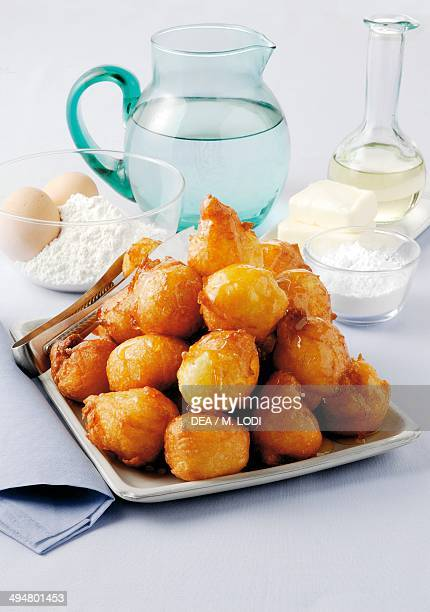 St Joseph beignet deepfried choux pastry with honey
