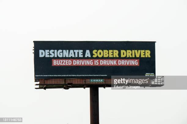 St. Joseph, Missouri, Anti-drinking billboard sign.