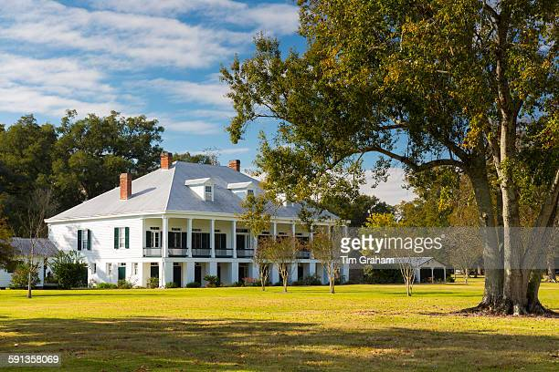 St Joseph plantation 19th Century antebellum mansion house along the Mississippi at Vacherie Louisiana USA