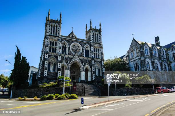 st joseph's cathedral, dunedin, south island, new zealand - dunedin new zealand stock pictures, royalty-free photos & images