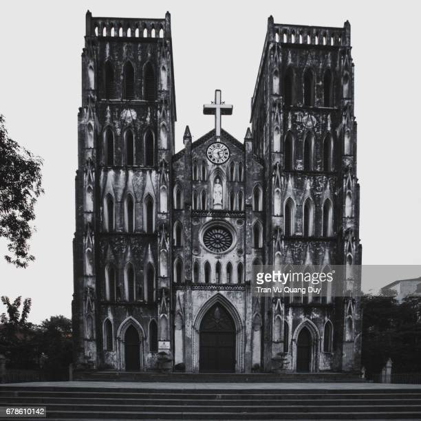 st. joseph's cathedral, hanoi. - fanny pic stock photos and pictures
