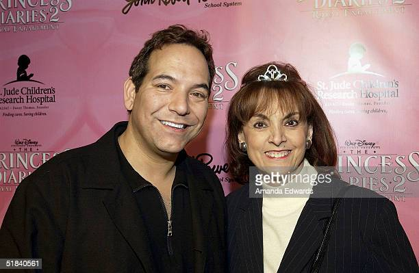 St Jude Children's Research Hospital cochairs Terre Thomas and Robert Ellis arrive at 'The Princess Diaries 2 Royal Enagement' DVD Pajama Party on...