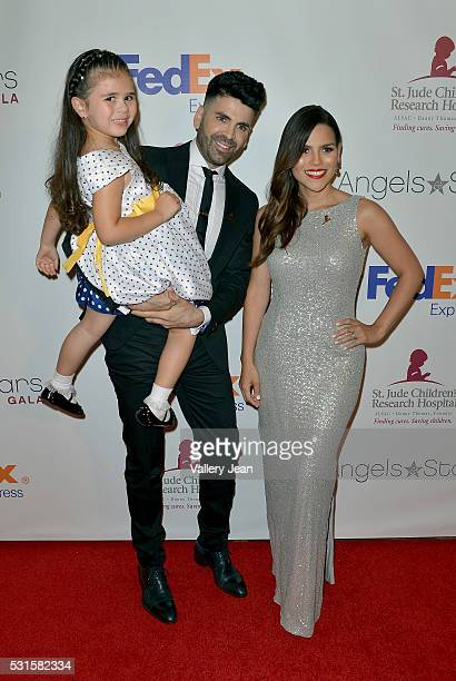 St Jude Patients Crista Anleu Jomari Goyso and Karina Banda attends the FedEx / St Jude Angels and Stars Gala at Hotel InterContinental on May 14...