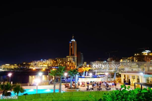 St Julians area, Porto Maso Tower, Long Exposure, Malta