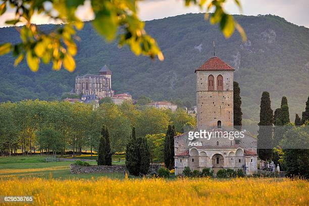 St Just de Valcabrere Basilica and the Romanesque Cathedral of Sainte Marie de Saint Bertrand de Comminges on the Way of St James in the Pyrenees...