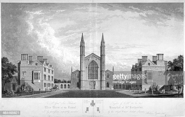St Katherine's Hospital Regent's Park London 1827 The hospital's original area is the site now occupied by St Katherine's Dock Below the main image...