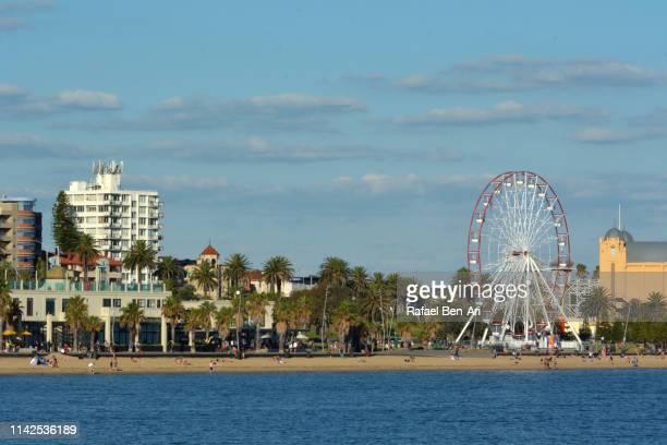 st kilda beach melbourne victoria australia - rafael ben ari stock-fotos und bilder