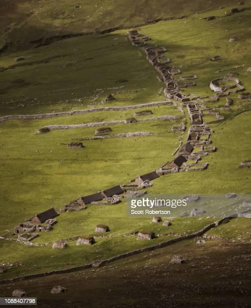 st. kilda, hirta, outer hebrides, scotland - unesco stock-fotos und bilder