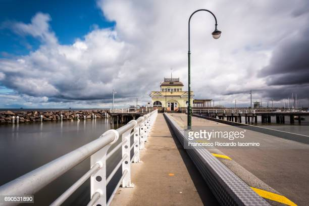 St Kilda Pier and Pavilion at sunset, Melbourne
