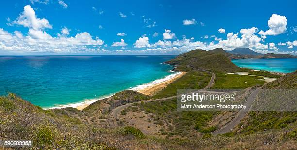 st kitts - nevis view - st. kitts stock photos and pictures