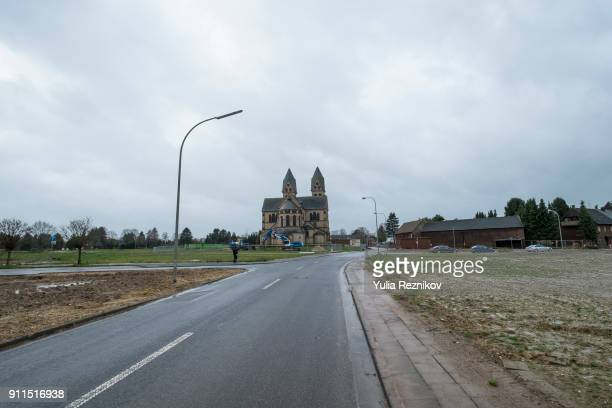 St. Lambertus Cathedral in ghost town of Immerath