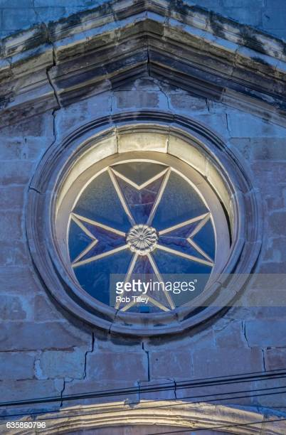 st. lawrence church detail - maltese cross stock photos and pictures