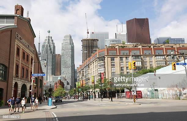 St. Lawrence Neighbourhood, Front Street, Toronto, Canada in Summer