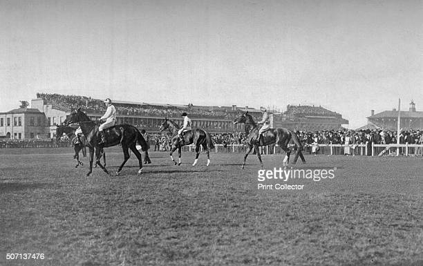St Leger Horses In Front of the Doncaster Stand' c1901 Doncaster Racecourse Doncaster South Yorkshire hosts the St Leger Stakes and the Racing Post...