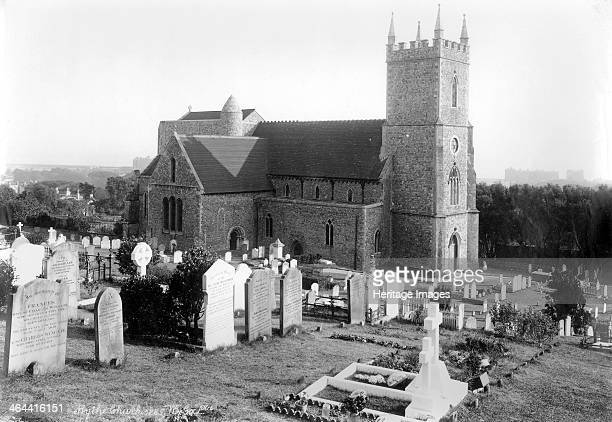 St Leonard's Church Hythe Kent 18901910 St Leonard's Church seen from the northwest with a cluster of Victorian headstones in the churchyard in the...