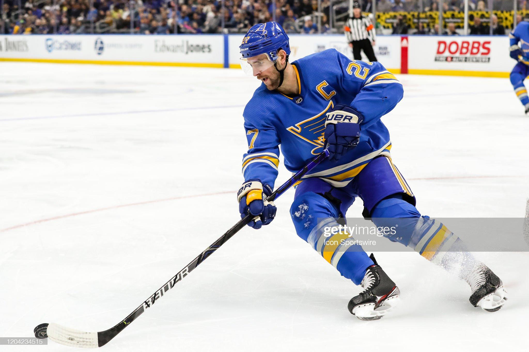 NHL: FEB 29 Stars at Blues : News Photo