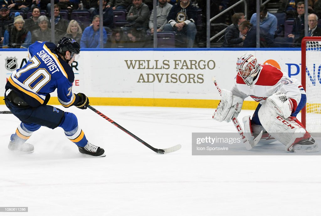 NHL: JAN 10 Canadiens at Blues : News Photo