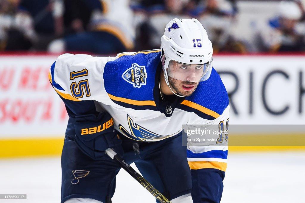 NHL: OCT 12 Blues at Canadiens : News Photo