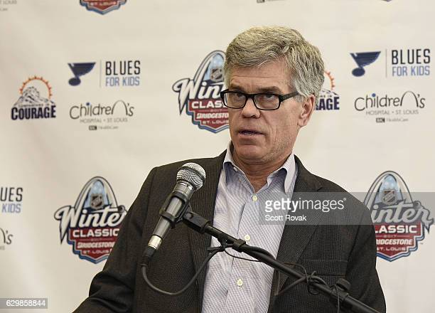 St Louis Blues chairman Tom Stillman on December 14 2016 at St Louis Childrens Hospital in St Louis Missouri The National Hockey League and St Louis...