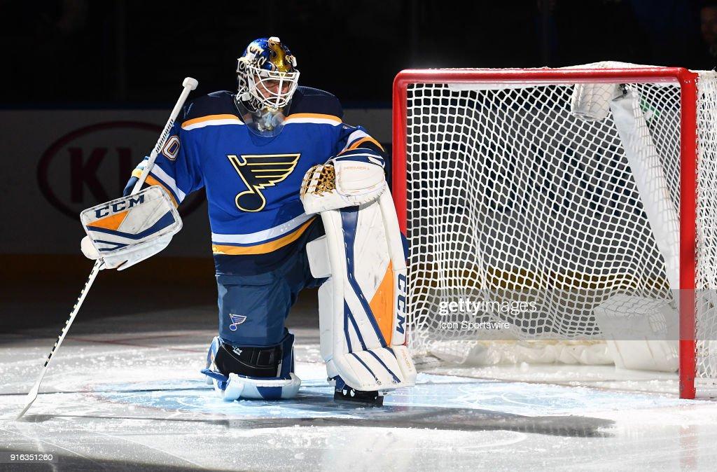 NHL: FEB 06 Wild at Blues : News Photo