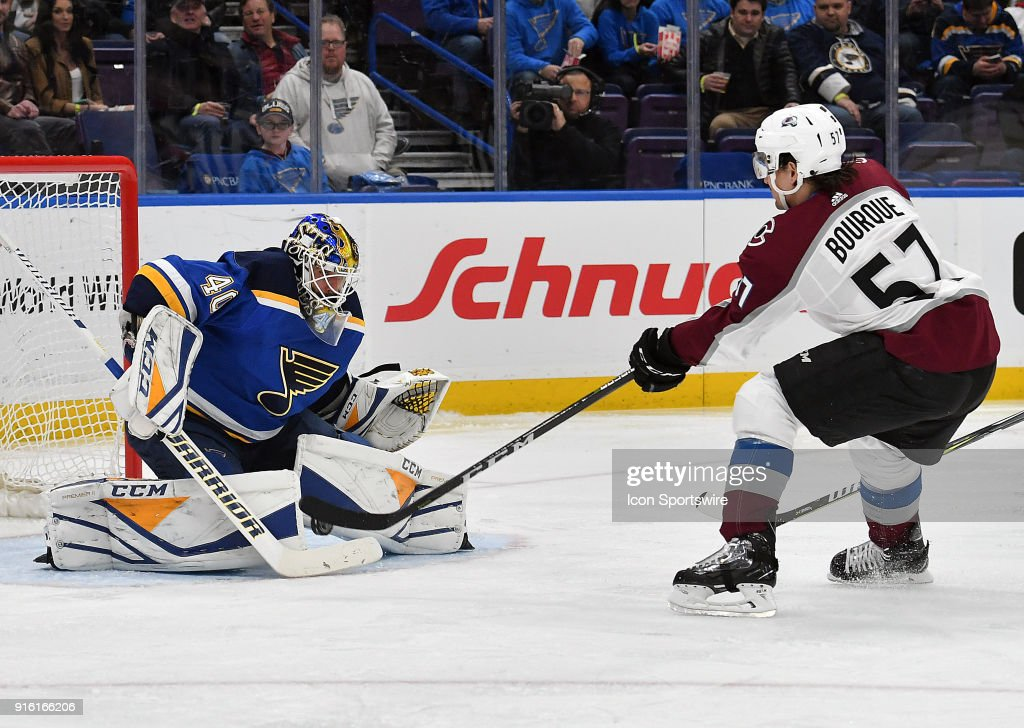 NHL: FEB 08 Avalanche at Blues : News Photo