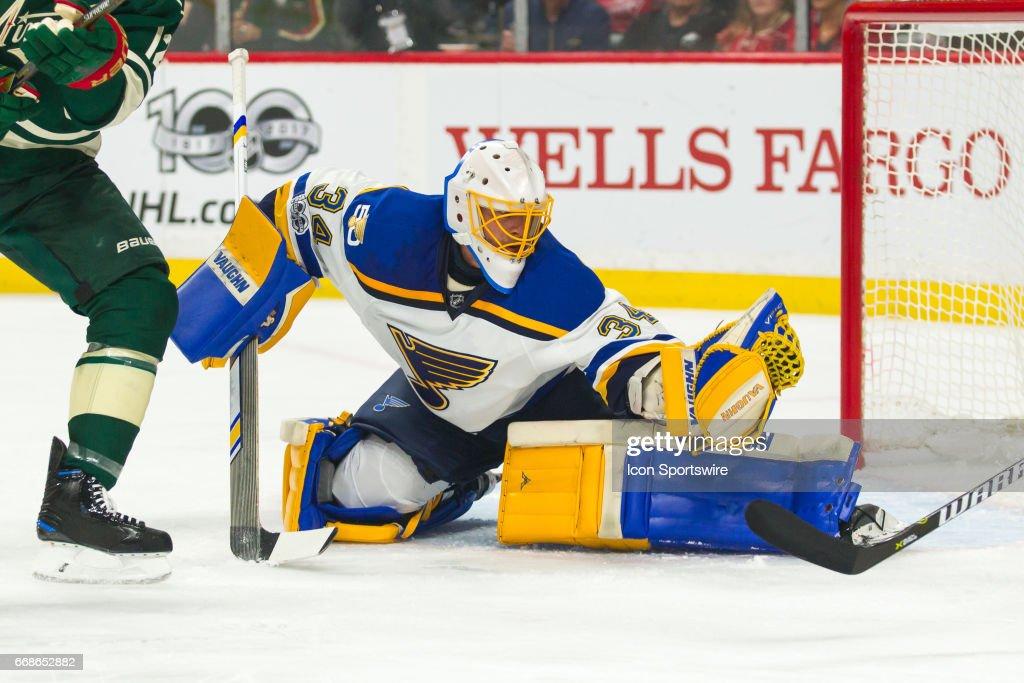 NHL: APR 14 Round 1 Game 2 - Blues at Wild : News Photo