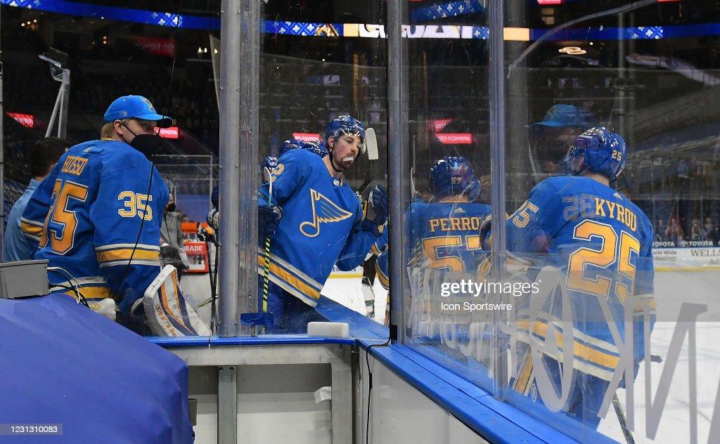 NHL: FEB 20 Sharks at Blues : News Photo