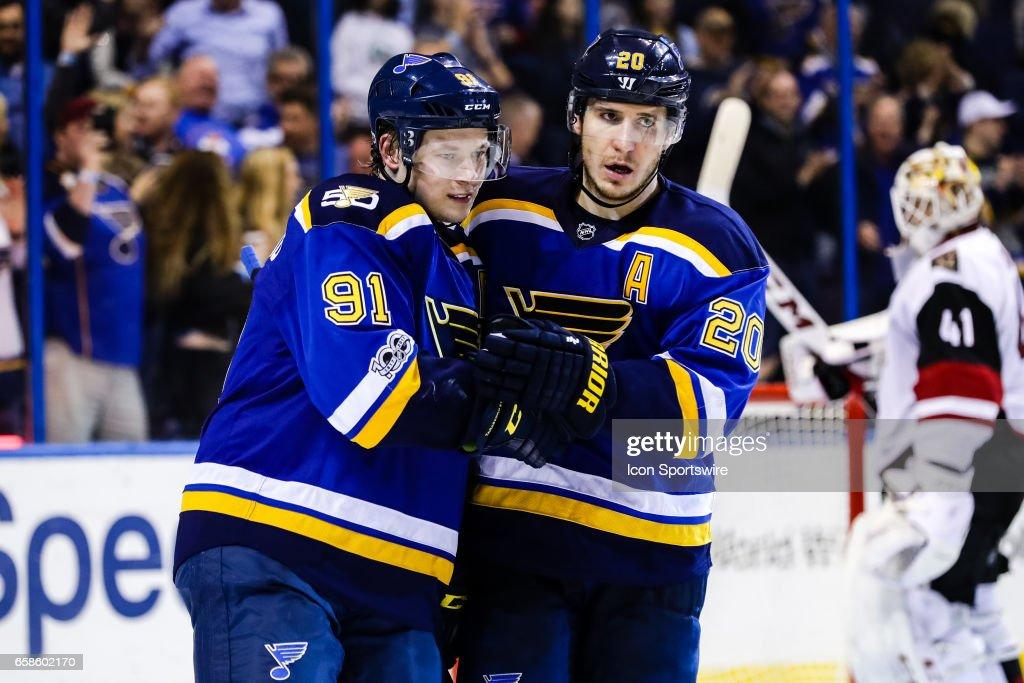 NHL: MAR 27 Coyotes at Blues : News Photo
