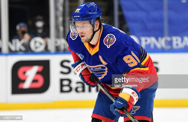 St. Louis Blues right wing Vladimir Tarasenko during a NHL game between the Anaheim Ducks and the St. Louis Blues on May 03 at Enterprise Center, St....
