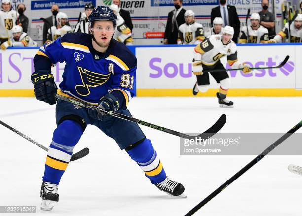 St. Louis Blues right wing Vladimir Tarasenko during an NHL game between the Vegas Golden Knights and the St. Louis Blues on April 07 at Enterprise...