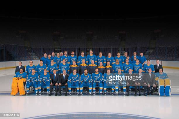 St Louis Blues Team Photo on March 9 2017 at Scottrade Center in St Louis Missouri EDITORS NOTE This image has been altered at the request of the St...