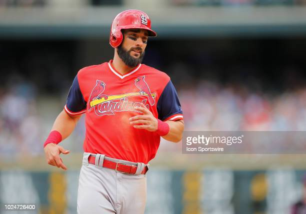 St Louis Cardinals infielder Matt Carpenter runs to third during a regular season game between the Colorado Rockies and the visiting St Louis...
