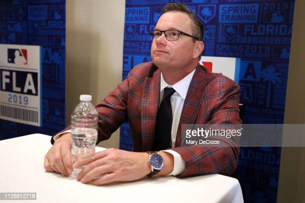 St Louis Cardinals manager Mike Shildt speaks to the media during the Grapefruit League media availability on Sunday February 17 2019 at the Hilton...