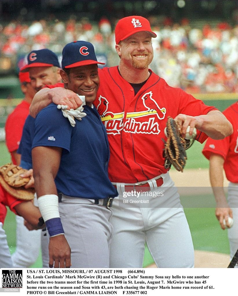 the sports legendary of mark mcgwire and sammy sosa Mark mcgwire and sammy sosa mcgwire and sosa both began the month with 55 home bleacherreportcom is part of bleacher report – turner sports network.