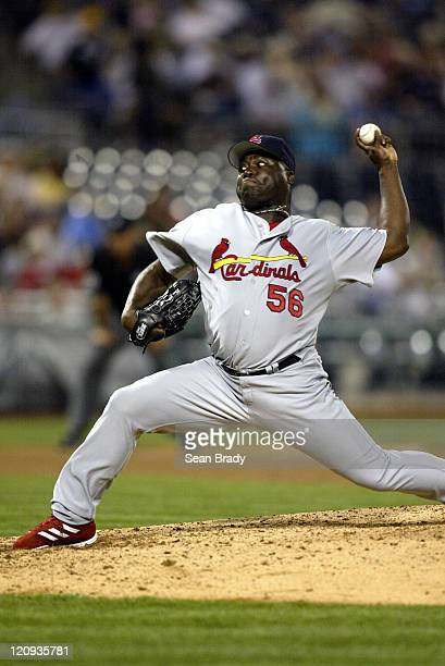 St Louis Cardinals pitcher Ray King in action against the Pittsburgh Pirates at PNC Park in Pittsburgh Pennsylvania on April 19 2005